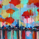 """A Walk on the Charles 11, oils on panel, framed, 50x38"""", 2014, SOLD"""