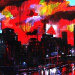 "MIxed Media on Canvas, 60x36"", 2010"