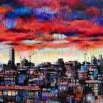 """A View From The Top , Mixed Media on Canvas, 54x36"""", 2012, SOLD"""