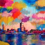 "MIxed Media on Canvas, 24x24"", 2011"