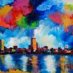 "MIxed Media on Canvas, 36x24"", 2011"