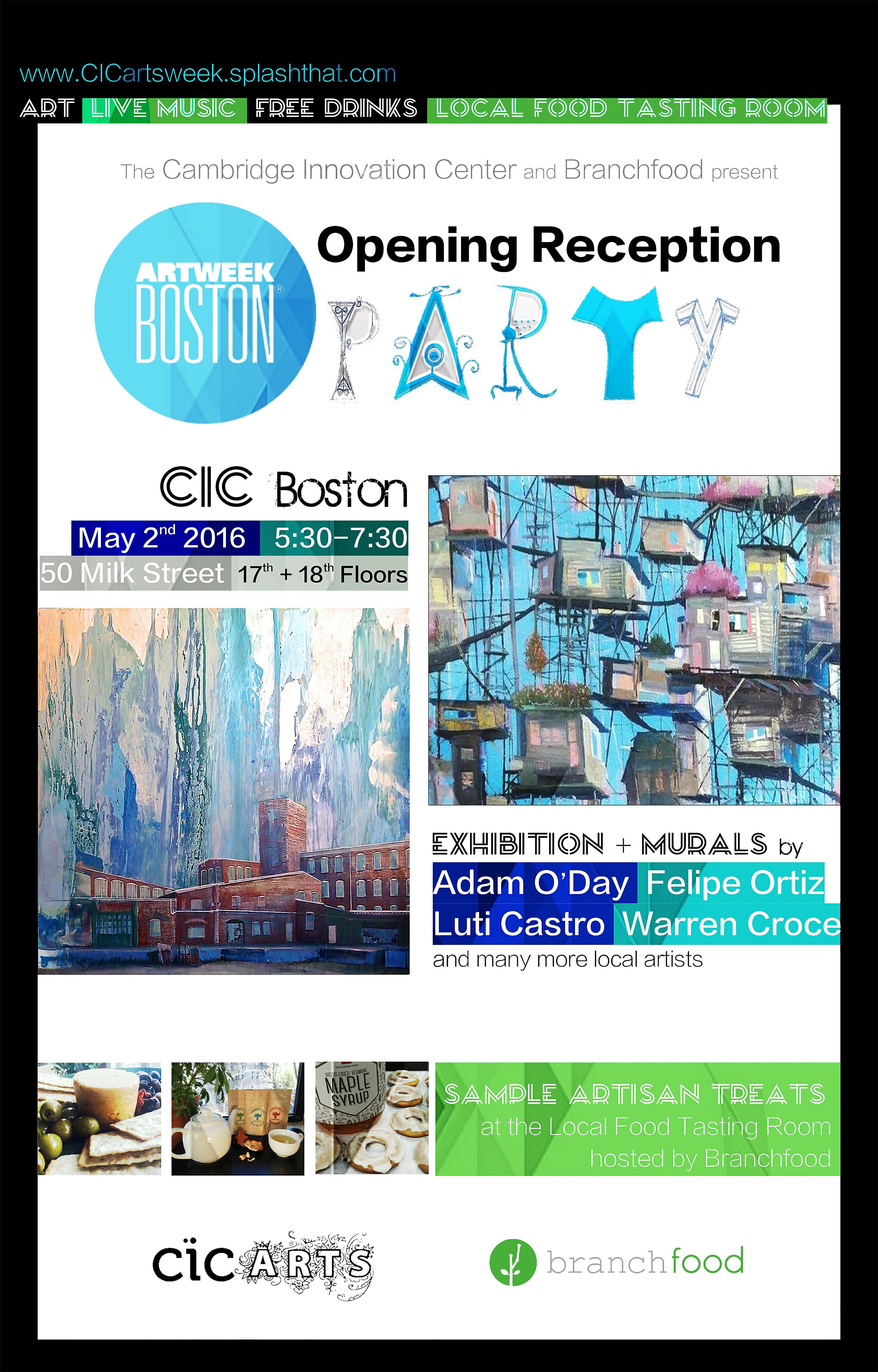 CIC Arts Week Opening Reception Flyer v4