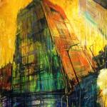 "MIxed Media on Canvas, 30x40"", 2009"