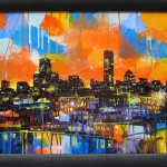 "Mixed Media on Canvas, Framed, 24x18"", 2012"