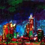 "Mixed Media on Canvas, 24x24"", 2009"