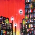 "mixed media on canvas, 18x48"", 2012"