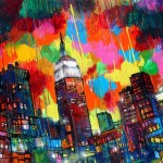 "Mixed Media on Canvas, 54x36"", 2011"