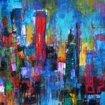"Mixed Media on Canvas, 36x36"", 2010"