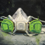 "3M Respirator, oil on canvas, 24x30"", 2020, SOLD"