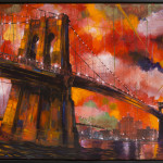"Brooklyn Bridge 3, oil on canvas, 40x30"", 2015"
