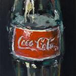 """Coca-Cola, oil on canvas, 12x3"""", 2020 SOLD"""
