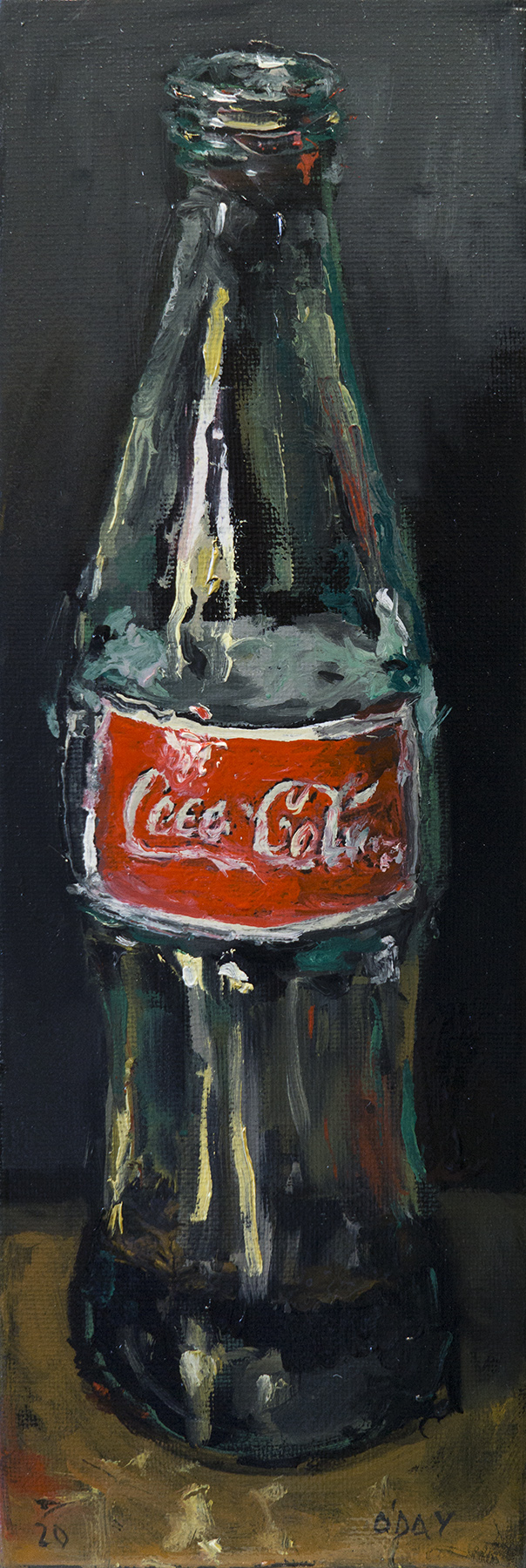 "Coca-Cola, oil on canvas, 12x3"", 2020 SOLD"
