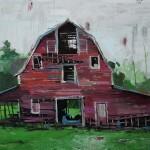"""NH Barn, oil on canvas, 30x40"""", 2020"""