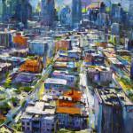"""Aerial Gateway, oil on canvas, 66x78"""", 2017"""