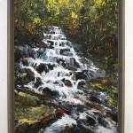 "Falls, acrylic on panel, 30x20"", 2018, SOLD"