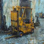 "Ogden Forklift, acrylic on linen, 30x40"", 2018, SOLD"