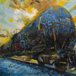 "Oil Tanker 1, oil on canvas, 34x48"" 2020 SOLD"