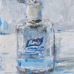 "Purell, oil on canvas, 7x5"", 2020 SOLD"