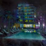 """South Beach, oil on canvas, 69x58"""" 2019"""