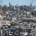 "Stuy Town, oil on board, 25x49"", 2017, SOLD"
