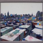 West Village Rooftops, acrylic on panel, 24x24, 2015