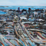 "Zakim, oil on canvas 42x54"", 2017"