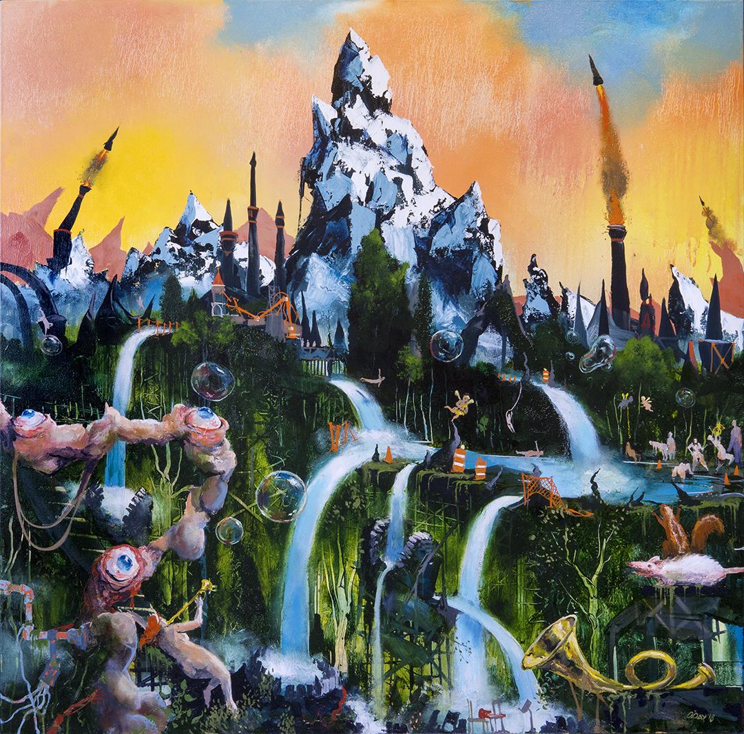 """Natureland, oil on canvas, 40x40"""", 2018"""