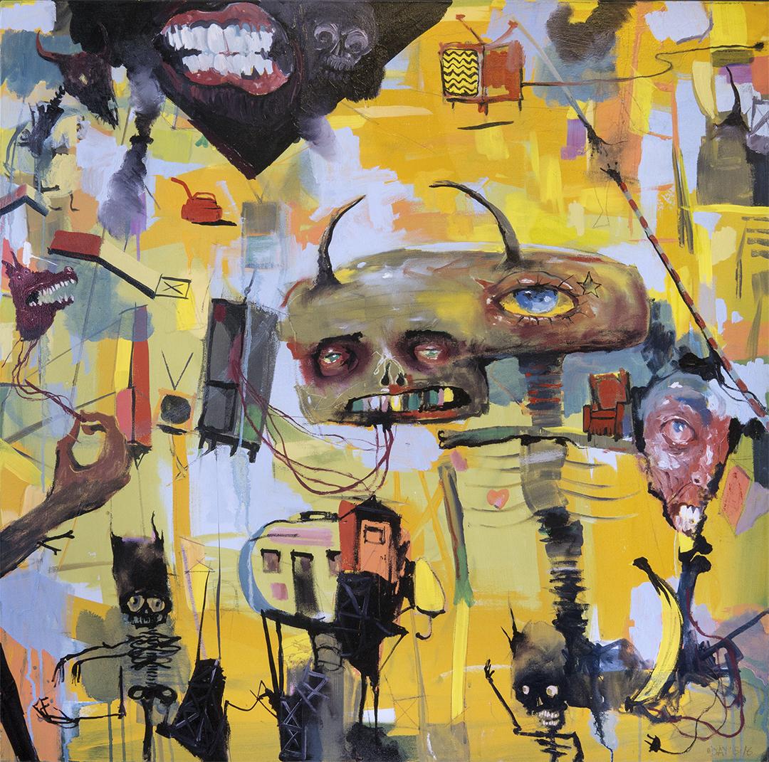 "True Self, oil on canvas, 36x36"", 2018"