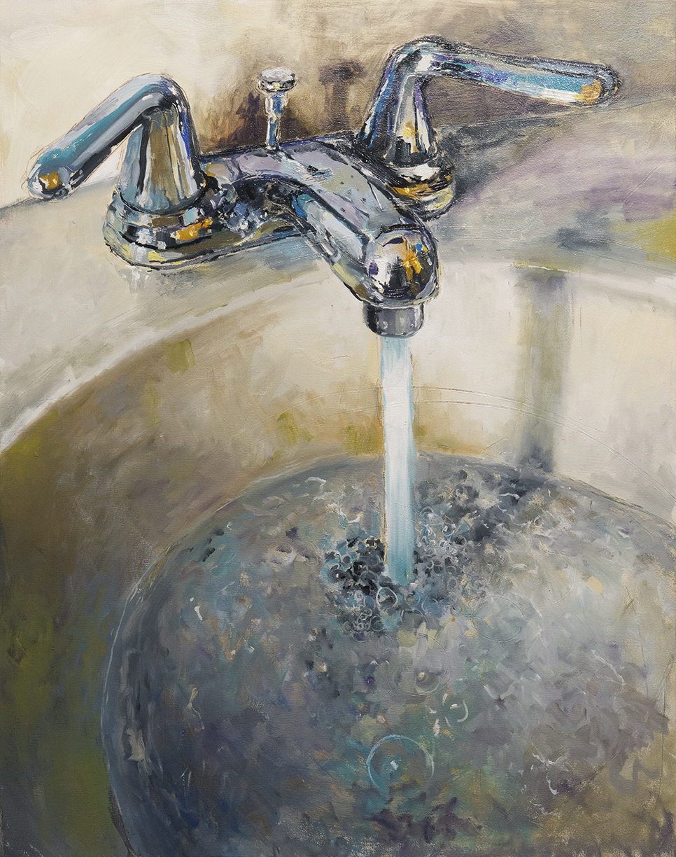 Wash Your Hands, oil on canvas, 41x32, 2019 SOLD